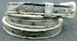 Hatband Genuine Ostrich Gray Full Quill #2 With Buckle Western Cowboy Hat Band - $28.97