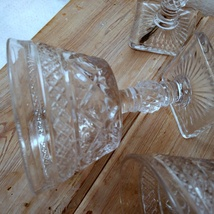 Imperial Glass Cape Cod Clear Set of 6 Champagne Stems Glasses image 4