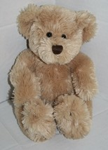 """Animal Adventure TEDDY BEAR 10"""" Sits 8"""" Tan Plush Soft Brown Stitched Nose 2004 - $19.23"""