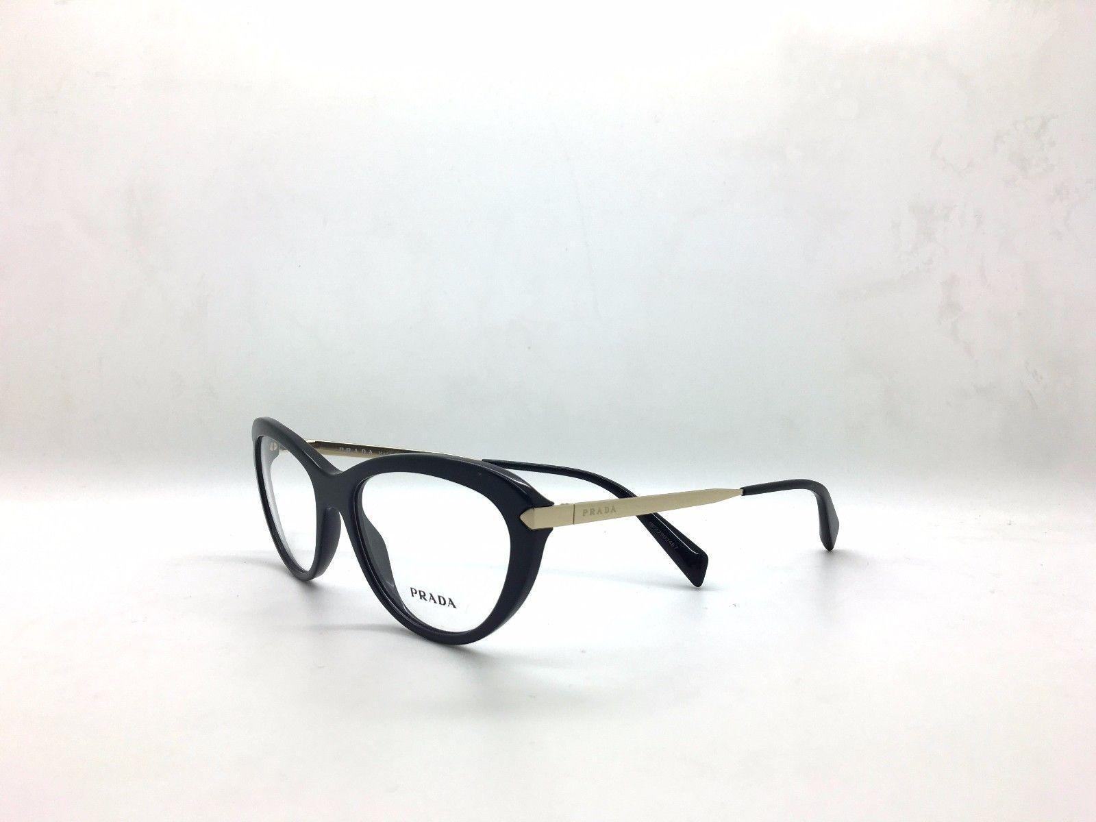 0fdc2987a8 Prada VPR 08R 1AB-1O1 Black on Gold New and 21 similar items