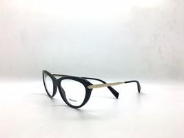 Prada VPR 08R 1AB-1O1 Black on Gold New Authentic Eyeglasses 54/17/140mm... - $92.97