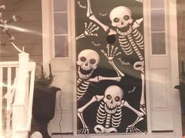 "Halloween Scary Skeleton Door Cover Panel Wall Decor  30"" X 72""  76.2cmx... - £2.25 GBP"