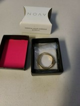 Avon Essential Classic Hoop Earrings Goldtone NOS 2011 NEW  NEW IN BOX - $15.00