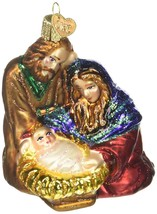 Holy Family Ornament Old World Christmas Glitter Accents New Nativity Ma... - $18.80