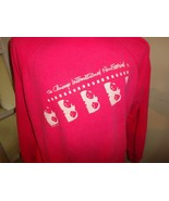 Vtg 90's Pink Chicago International Film Festival Crew Sweatshirt Women... - $49.45