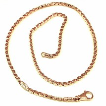SOLID 18K YELLOW GOLD CHAIN, 24 INCHES, 3 MM DROP TUBE LINK, POLISHED NECKLACE image 1