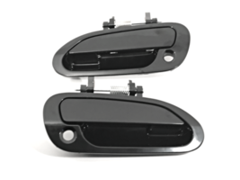 Fits 98-02 Honda Accord Left & Right Front Door Handle  Exterior Black - $23.71