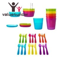36 Pc Dinnerware Set Assorted Colors Ikea Childrens Eating Party Utensil... - $17.81