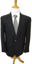 Yves Saint Laurent Blazer Wool Cashmere Blend 40R Silver Buttons Green G... - $22.36