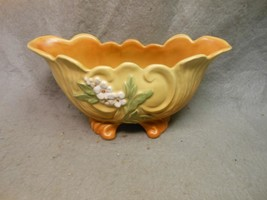 """VINTAGE RARE WELLER  POTTERY ROBA 2 FOOTED PLANTER OVAL 10"""" BY 4 1/2"""" BY... - $29.99"""