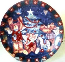 DECORATIVE COLLECTIBLE CHRISTMAS BEAR CHINA PLATE - $12.38