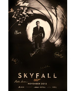 SKYFALL SIGNED MOVIE POSTER - $180.00