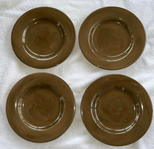 4 TARGET Home AMERICAN SIMPLICITY CHOCOLATE BROWN Stoneware DINNER PLATE... - $36.96