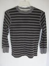 Boy Children's Place Black & Gray Thermal Long Sleeve Shirt Size M - $6.79