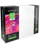 "Arteza 11x14"" White Blank Canvas Panels Boards, Bulk Pack of 28, Primed,... - $54.20"