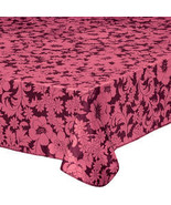 Bordeaux Floral Vinyl Table Cover-60-84-Burgundy - $26.23