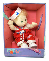 Vintage My Child Doll Mattel 1985 Blonde Sailor #2175 Green Eyes Red Outfit - $210.36