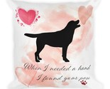 Labrador Retriever Dog Pillow,  Custom Dog Pillow, Personalized Pet Pillow,  Hom