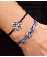 Endless knot Sterling Silver bracelet, Celtic knot, Tibetan knot, yoga b... - $46.00