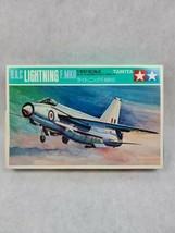Vintage TAMIYA 1:100 B.A.C Lightning F. MK6 Plane Airplane Model Kit PA1004 - $19.79