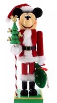 Disney Mickey Mouse Santa Nutcracker Figure 14'' Holiday New with Box - $38.39