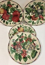 Sakura Oneida Sonoma Excell Stoneware 4 Assorted Fruits Salad Dessert/Plates - $44.55
