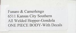 Funaro & Camerlengo HO  KCS All Welded Hopper-gondola Gondola Kit 6262 image 3