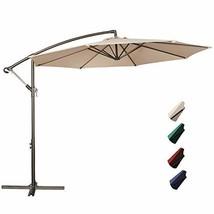RUBEDER Offset Umbrella - 10Ft Cantilever Patio Hanging Umbrella,Outdoor... - $209.80