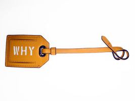 Reed Krakoff Yellow Why Hangtag Luggage Tag Picture Holder Charm - $45.00