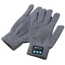 Women Winter Bluetooth Gloves Men Unisex Knit Call Talking Warm Mittens - $9.55