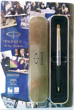 Parker Frontier Steel  Ball Pen  With Gold Clip - $19.80