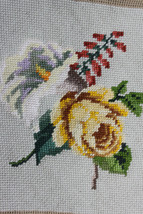 Finished Handmade Needlepoint Tapestry Fabric F... - $24.28