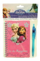 Disney Frozen 2pc Stationery Set Hope For The Kingdom Journal+Ink Pen Spiral - $2.98