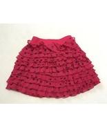Gap Kids S 6 7 Roman Holiday Pink Bow Tiered Crinkle Ruffle Skirt Girls - $7.99
