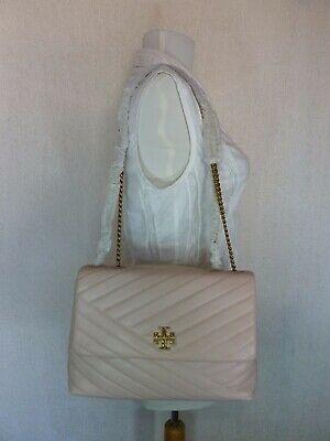 NWT Tory Burch Pink Moon Kira Chevron Convertible Shoulder Bag $528