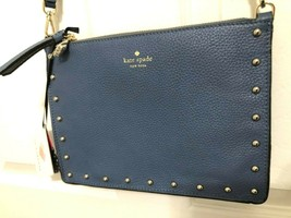 Kate Spade On Purpose Constellation Blue Studded Crossbody Clutch Bag $2... - $78.21