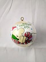 "1982 ZIGGY Christmas Ornament ""Merry Everything"" SATIN American Greeting... - $9.50"
