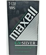 Maxell GX-Silver EP VHS 6 Hours T120  VHS Tape - $6.93