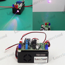 RGB 300mW White Laser Module Red 650nm 200MW Green 532nm 50mW Blue 450nm... - $46.73