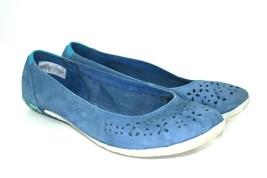 Merrell Tahoe Women's Blue Nubuck Perforated Ballet Flats Comfort Shoes  Sz. 7.5 - $25.94