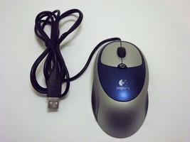 Logitech Click 3 Button Optical Mouse USB Silver Blue M-BT85 PN: 831197-... - $14.99