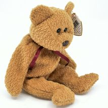 1993/1996 Ty Beanie Baby Curly the Bear Retired Beanbag Plush Toy Doll image 4