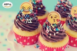 Jefferson Emoji Cupcake Toppers And Emoji Party Decorations And Supplie... - $18.64