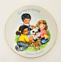 "1989 Mothers`s Day Avon Loving is Caring Plate 5"" with Box - $9.48"