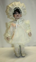1990 Seymour Mann Porcelain Doll – Baby with Ruffled Clothes 1209/2500 - $29.69