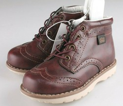 OshKosh B'Gosh Toddler Burgundy Brayan Wingtip Fashion Boots Shoes NEW