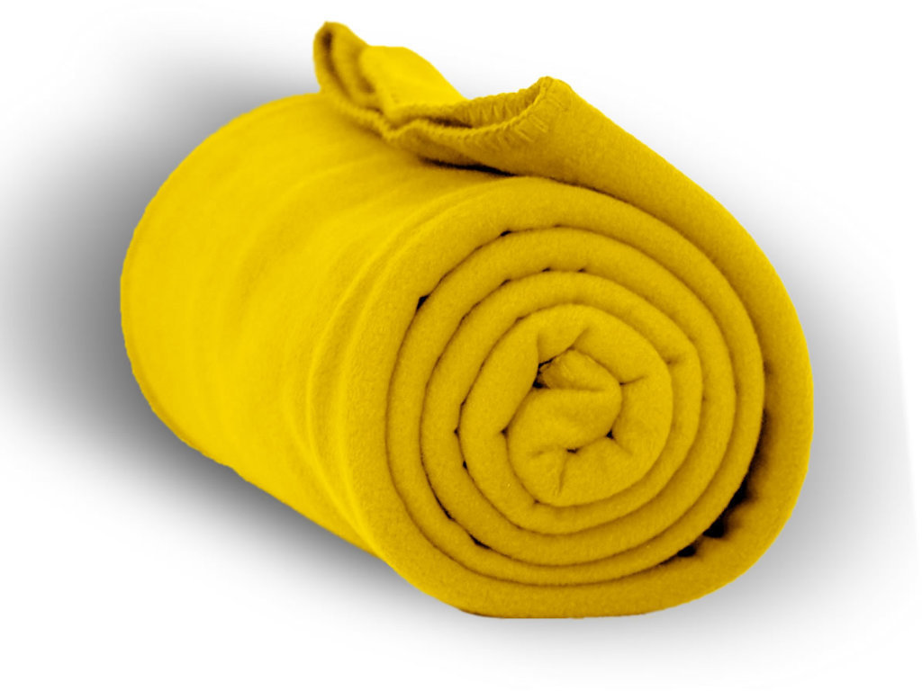 "Case of [24] Premium Fleece Blanket 50"" x 60"" - Taxi Yellow"