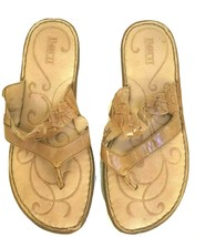 Born Women's Brown Leather Thong Sandals Size 9 M US - $19.78