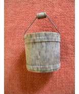 Bonsai Pot or Accessory - Small Wooden Bucket with Handle - $12.00