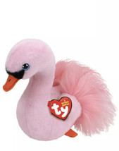 Ty Beanie Babies IDETTE the pink Swan New with Tags - $9.89